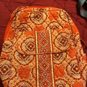 Vera Bradley Orange Small Backpack